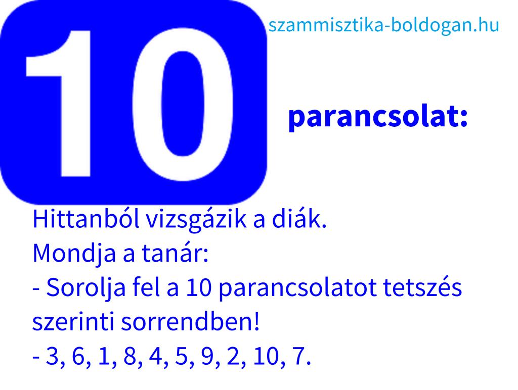 10 parancsolat, vicces idézet