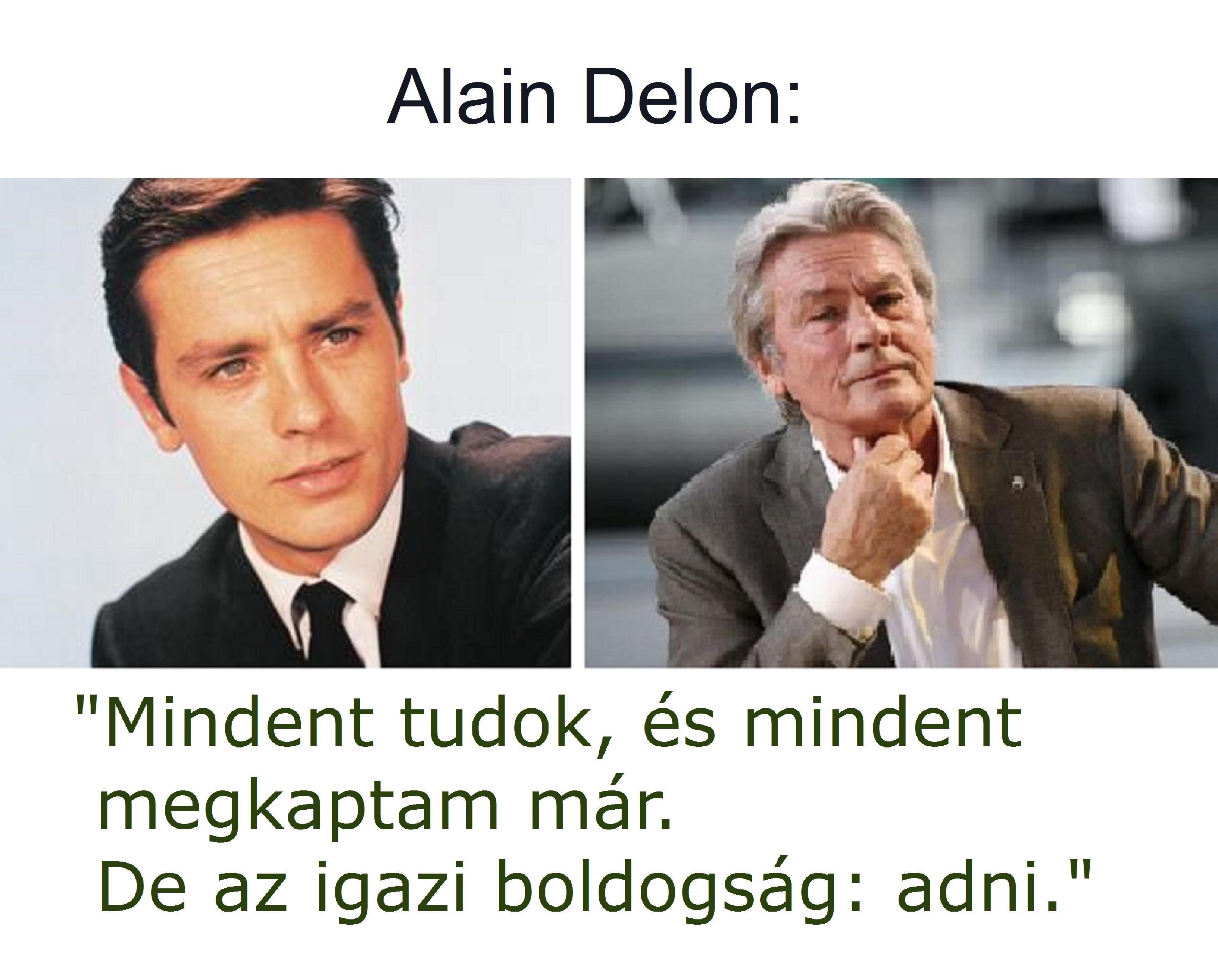 alain_delon, bölcsesség idézet
