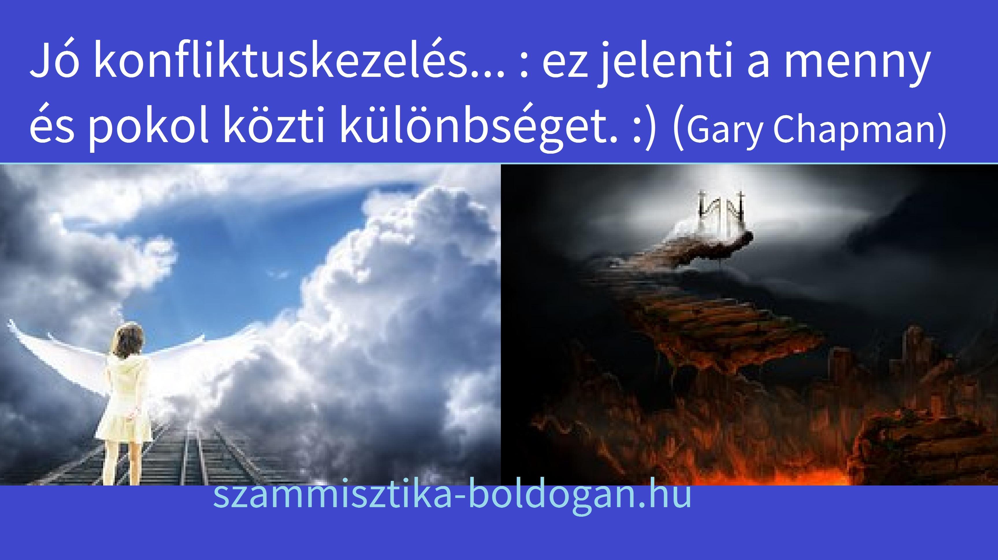 menny és pokol, idézet