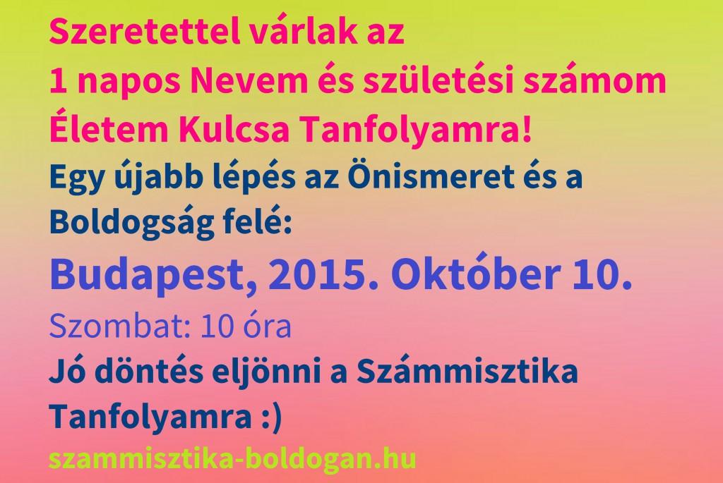 számmisztika tanfolyam budapest, 2015.október 10.