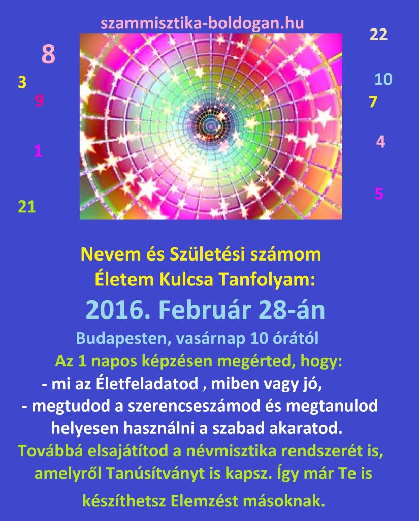 számmisztika tanfolyam budapesten, 2016. 02.28