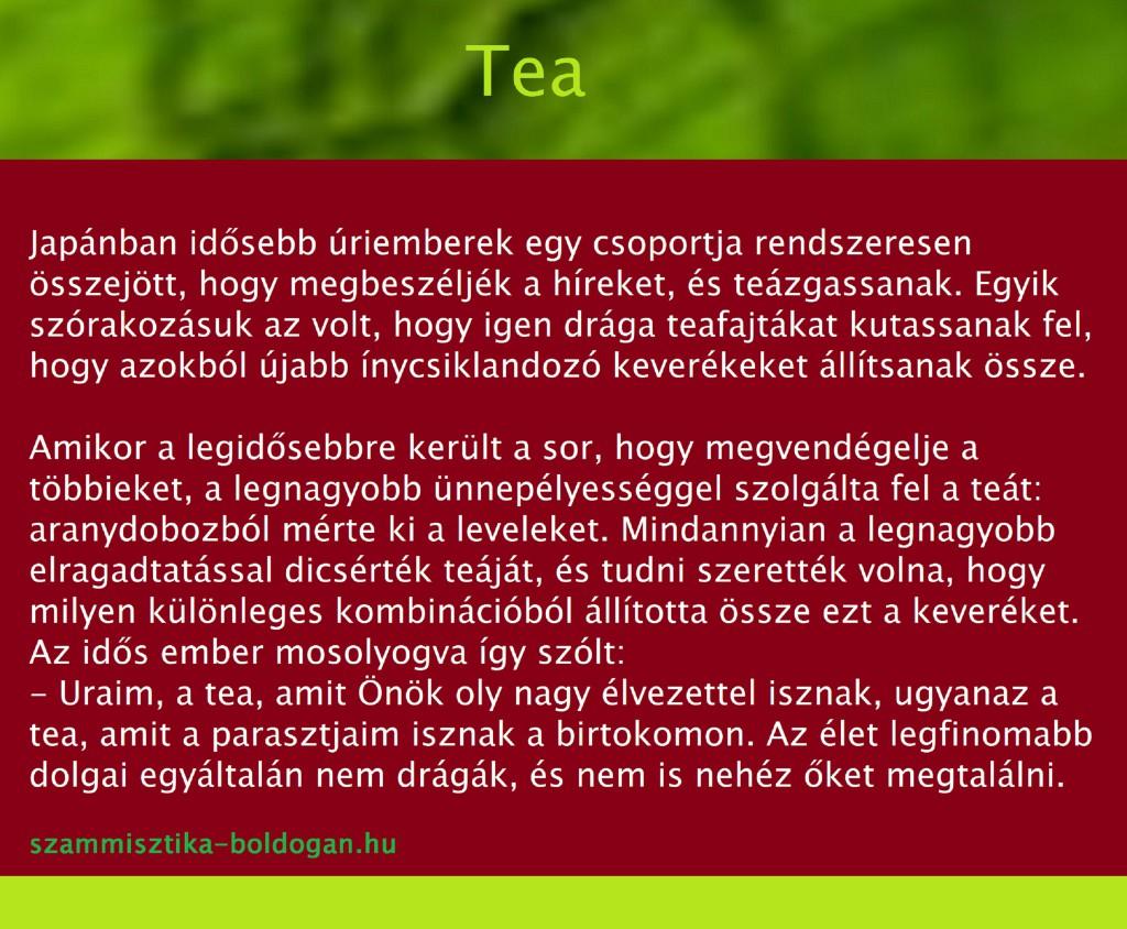 tea, számmisztika